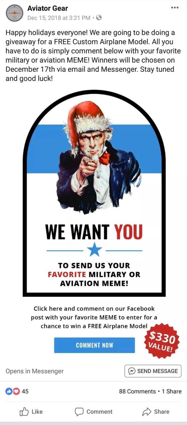 Aviator Gear Meme Contest