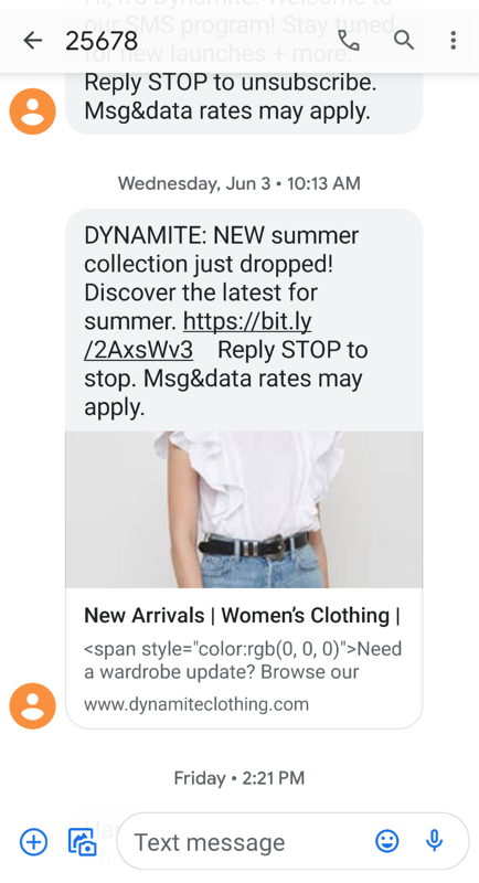 Dynamite SMS example-1