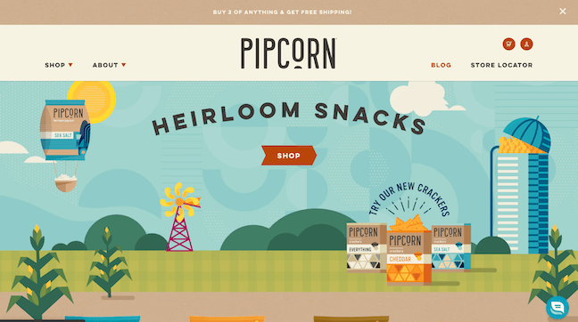 Pipcorn homepage