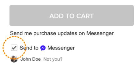 send to messenger checkbox