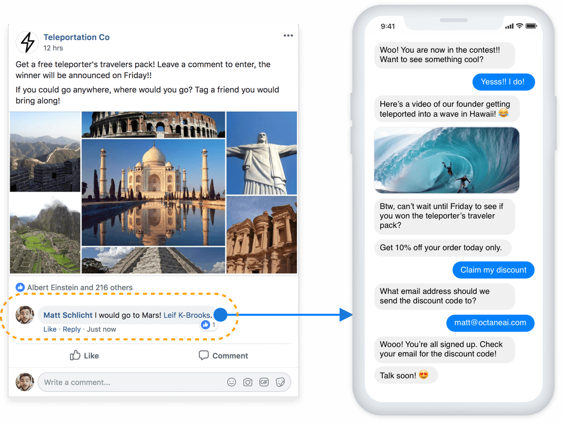 comment capture facebook messenger