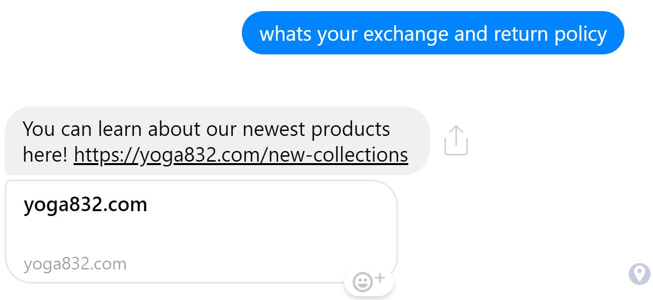 facebook messenger wrong response