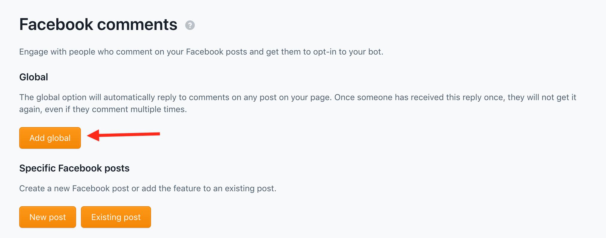 global facebook comment capture