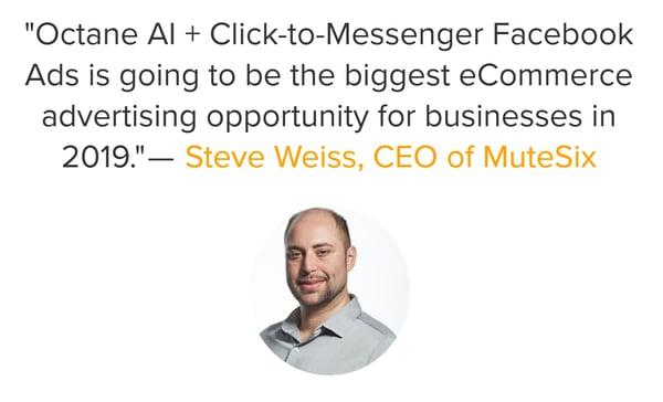 octane ai mutesix facebook messenger ads