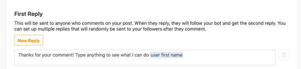 personalize comment capture