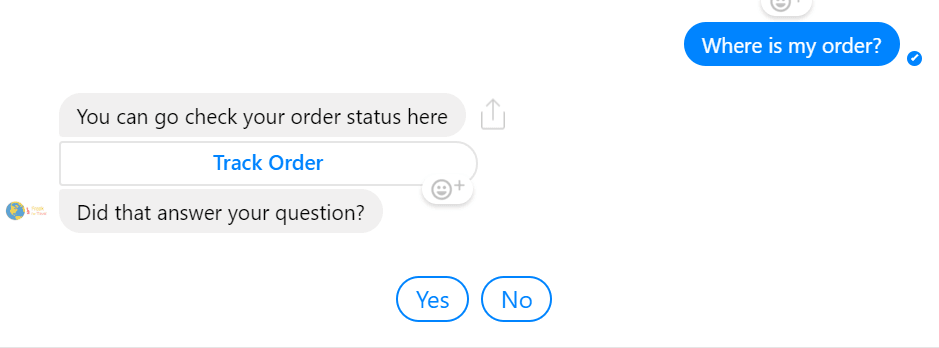 trained responses facebook messenger